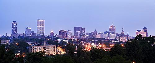 Panorama of city, Milwaukee, Wisconsin