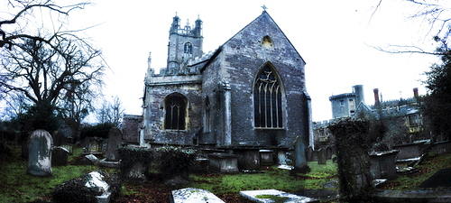 United Kingdom, Bristol, old chapel and cemetery
