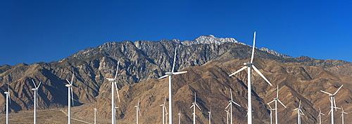 USA, California, Palm Springs, Wind farm, USA, California, Joshua Tree National Park