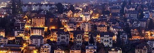 Old town at night, Switzerland, Lucerne