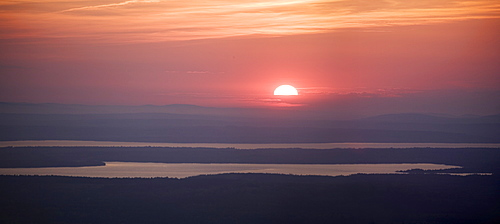 Sunset from Cadillac Mountain Acadia National Park Maine
