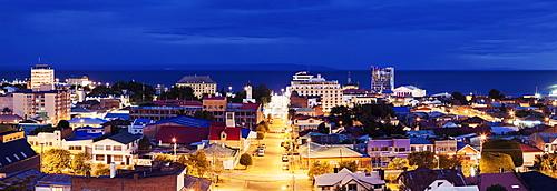 View to Punta Arenas, Chile, Magallanes and Antartica, Punta Arenas