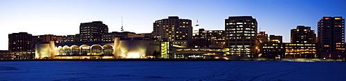 USA, Wisconsin, Madison skyline at dusk