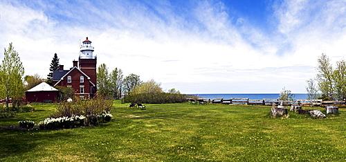 USA, Michigan, Big Bay Point lighthouse