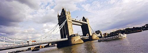 Tower bridge on Thames River