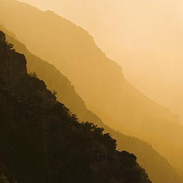 Silhouette of Grand Canyon mountain range