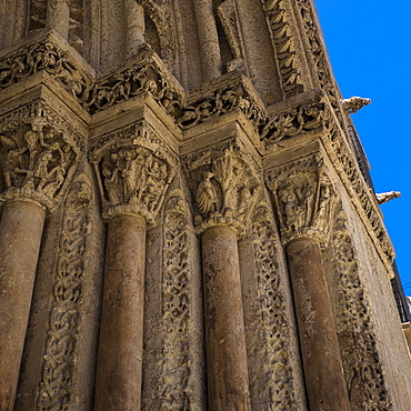 View of Santa Iglesia Cathedral, Detail, Valencia, Spain