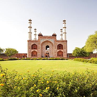 India, Uttar Pradesh, Agra, Sikandra, Akbar's Tomb, India, Uttar Pradesh, Agra, Sikandra