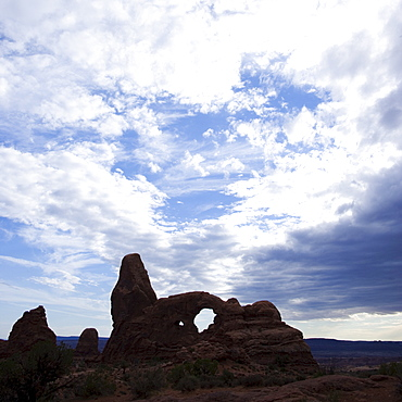 Turret Arch Arches National Park Moab Utah USA