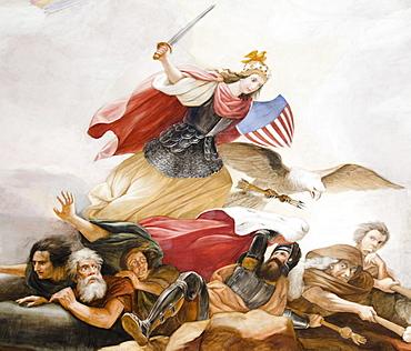 USA, Washington DC, Capitol Building, Close up of fresco