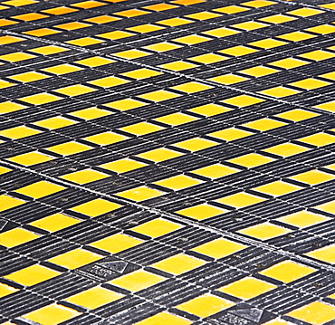 Full frame yellow and black checkerboard