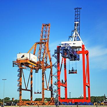 Industrial dock equipment and cranes