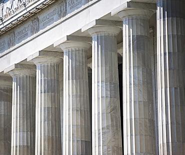 Row of stone columns, Washington DC, United States
