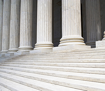 Steps and row of columns
