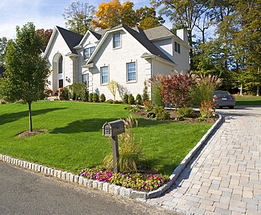 Suburban house in New City, New York