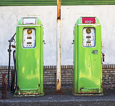 Old-fashioned gas pumps