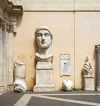 Parts of the Constantine statue, Capitoline Museum, Italy