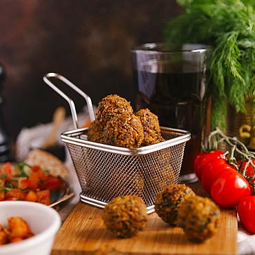 Falafel with ingredients