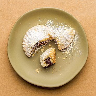 Greek Fig cookie on plate