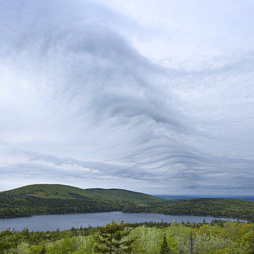 Clouds over Acadia National Park Maine