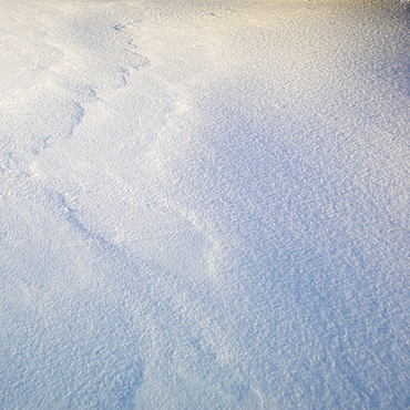 Closeup of snow with texture