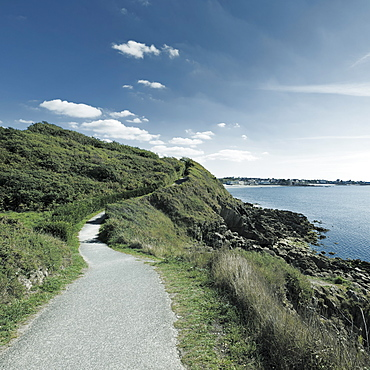 France, Brittany, Finistere Department, Concarneau, Coastal path