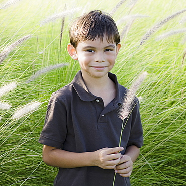 Boy in grass