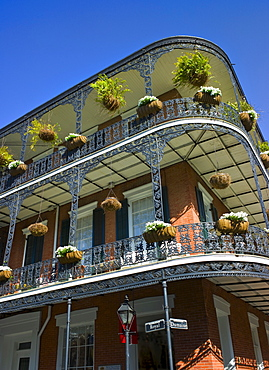 Balconies in French Quarter of New Orleans