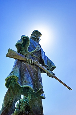 Statue of a soldier at Vicksburg National Military Park