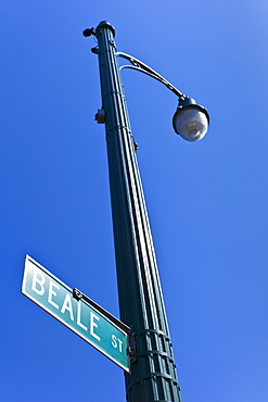 Beale Street sign and lamp post