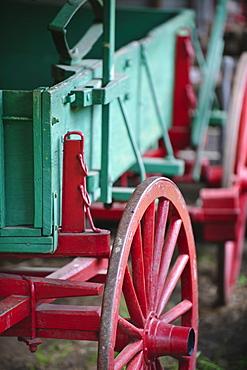 A farm wagon in Smoky Mountain National Park
