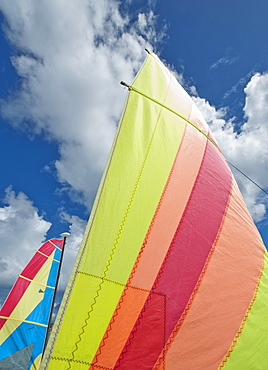 Colorful boat sails