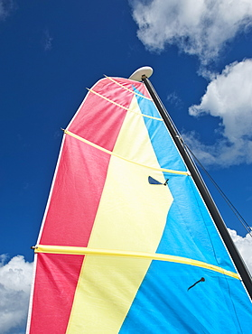 Colorful boat sail