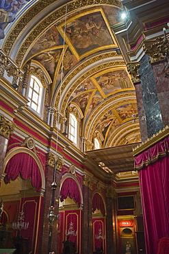 Interior of Mdina Cathedral, Malta