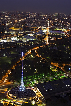 Cityscape at night, Australia,Victoria, Melbourne