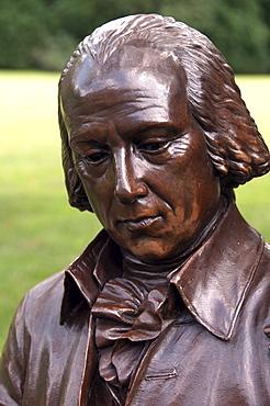 USA, Virginia, Orange, Montpelier, statue of James Madison