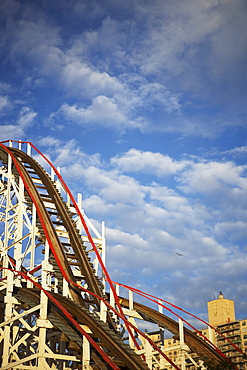 USA, New York City, Coney Island, rollercoaster