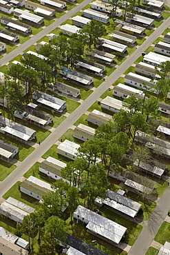 USA, California, Los Angeles, Lake Charles, housing development, elevated view