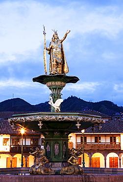 Statue of Pachacutec, Cuzco, Peru