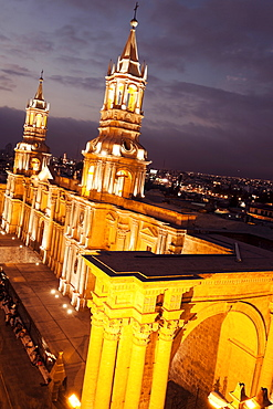 Cathedral on Plaza de Armas, Arequipa, Peru