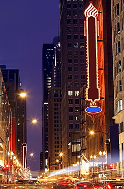 Oriental theater on West Randolph Street, Chicago, Illinois