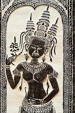 Female divinity goddess at temple Angkor Wat Cambodia Khmer