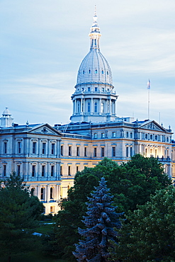 State Capitol Building in Lansing, Michigan, USA