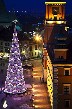 Castle Square, Royal Castle in Christmas time