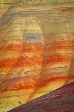 USA, Oregon, Mitchell, Painted Hills, Close-up of geological patter
