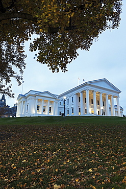 Facade of State Capitol Building, Richmond, Virginia