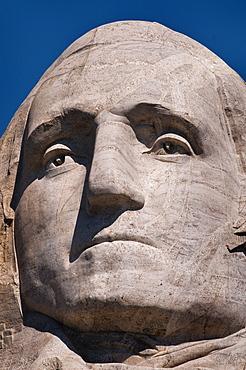 USA, South Dakota, George Washington on Mt Rushmore National Monument