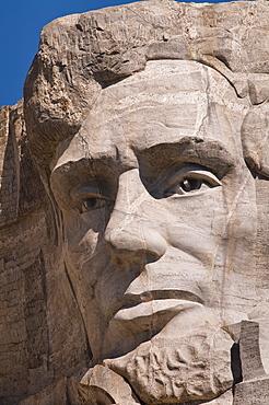 USA, South Dakota, Abraham Lincoln on Mt Rushmore National Monument