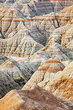 "Beautiful ""striped"" rock formation, USA, South Dakota, Badlands National Park"