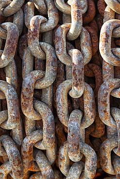Old weathered chain, Charleston Marina, OR